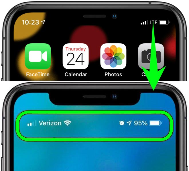 How To Reveal iPhone Status Bar Icon new